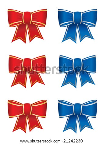 Set of six bows