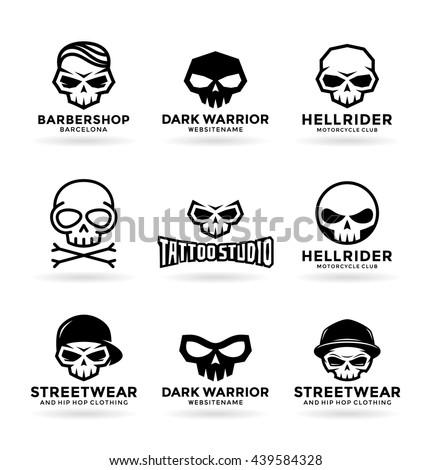 skull logo stock images, royalty-free images & vectors   shutterstock
