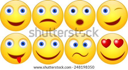 Set of Smile - stock vector