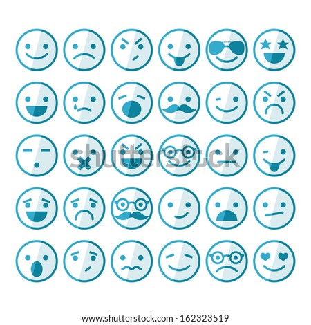 Wonderful Set Of Smileys In Different Emotions And Moods Nice Ideas