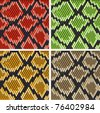 Set of snake skin patterns for design or ornate. Jpeg version also available in gallery - stock vector