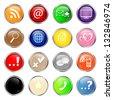 set of social media glossy buttons - stock vector