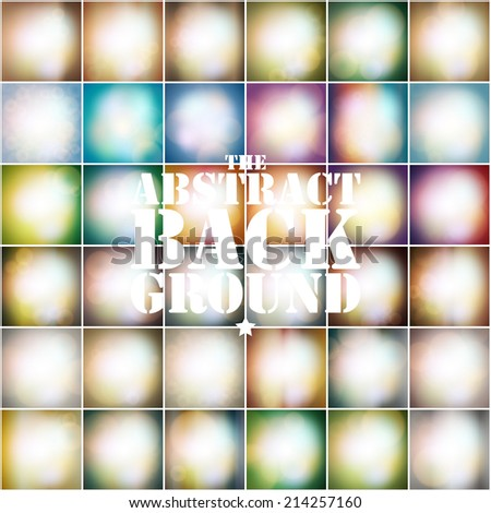 Set of soft colored abstract background. Vintage styled background vector. - stock vector