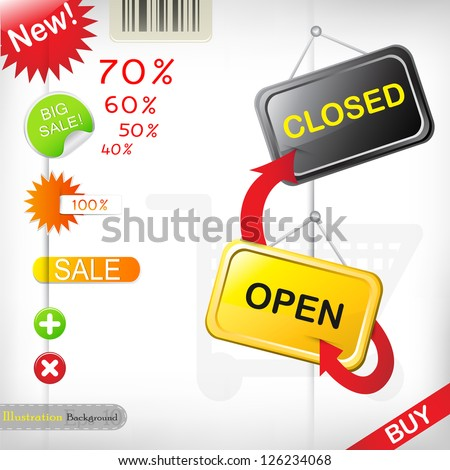 Set of special offer labels - stock vector