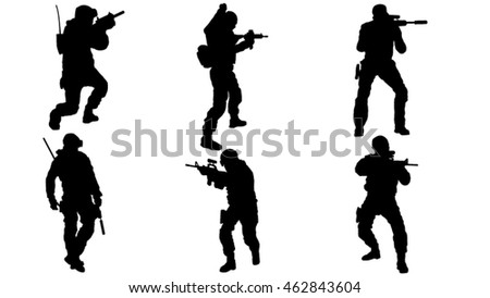 Set of Special Operations silhouettes