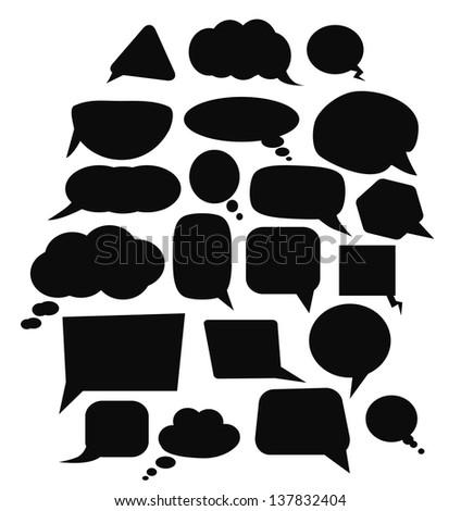 set of speech bubbles - stock vector