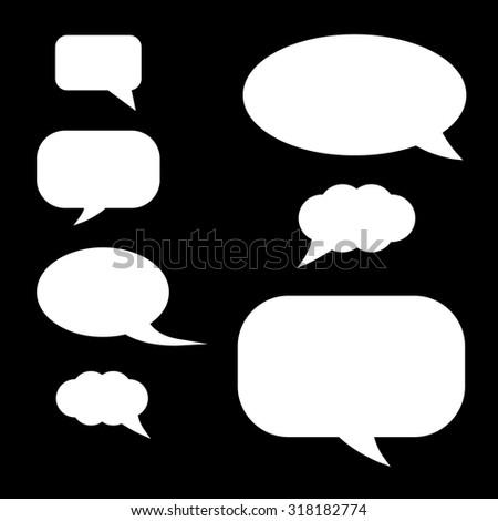 Set of speech bubbles. - stock vector