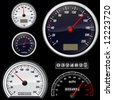set of speedometer vector - stock