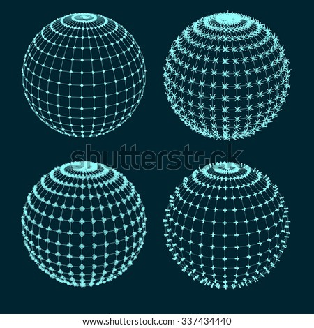 Set of spheres