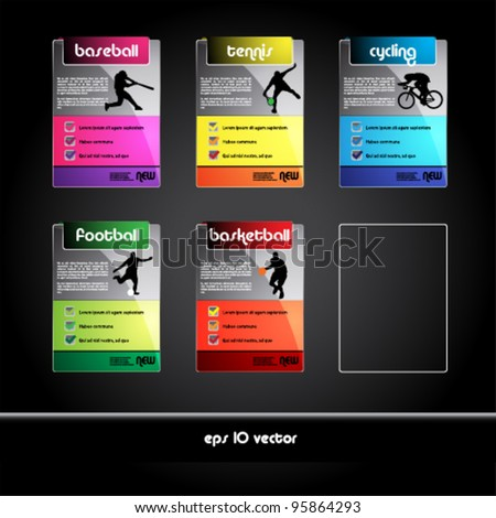 set of sport banners and tags - stock vector