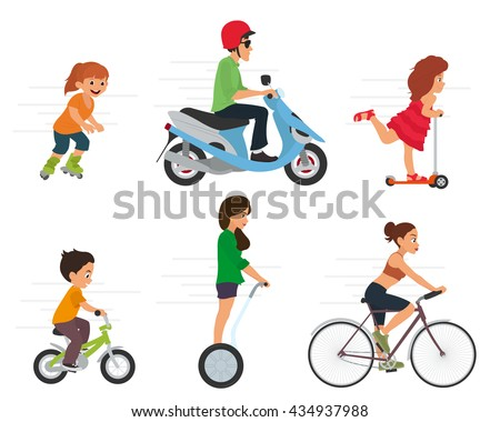 Set of sport characters. Sport and Health. vector - stock vector