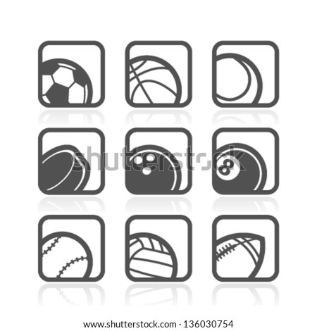 Set of Sport Icons - stock vector