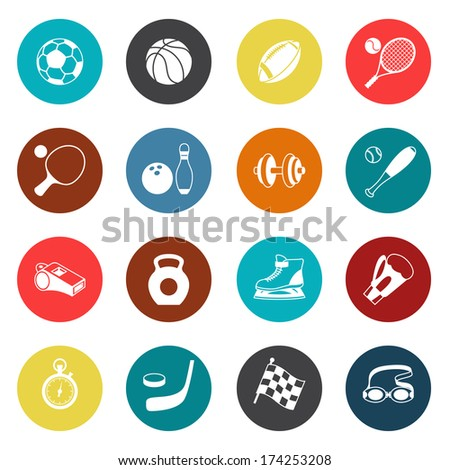 Set of sport icons. - stock vector