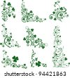 Set of St. Patrick's Day. Collection of design elements isolated on White background. Vector illustration - stock photo