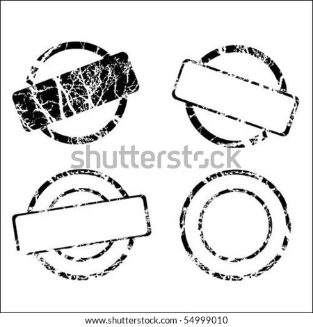 Set of stamp - stock vector