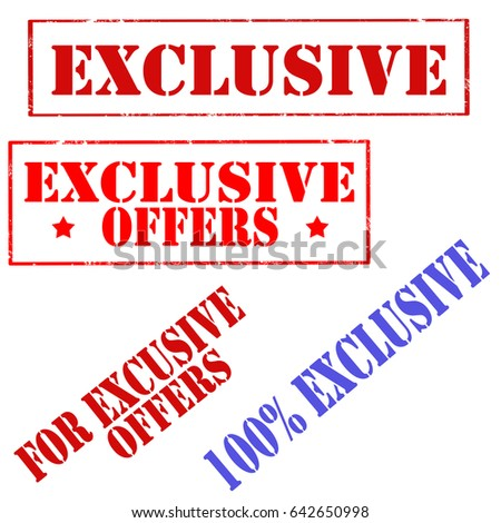 Exclusive Text Exclusive Stock Images...