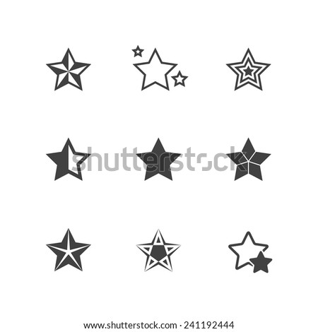 Set of Star Icons - stock vector