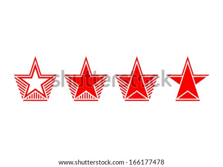 Set of stars - stock vector