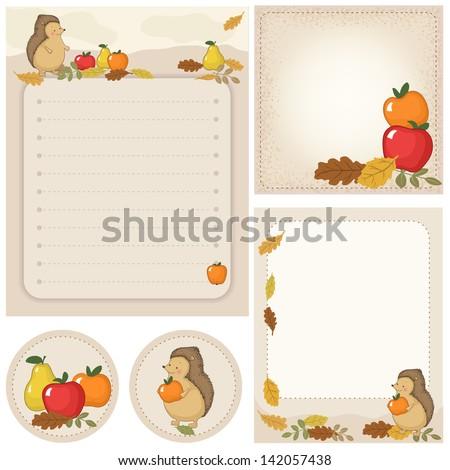 autumn stationery