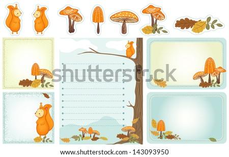 Cartoon Woodland Scene Autumn Woodland Scene