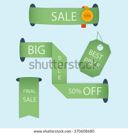 Set of stickers and badges - stock vector