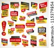 Set of stickers and banners - stock photo