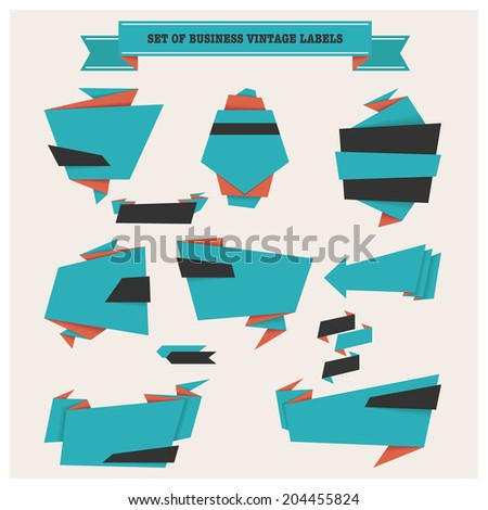 Set of stickers and banners. - stock vector