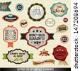 Set of stickers, labels and ribbons. Graphic Design Editable For Your Design.  - stock vector
