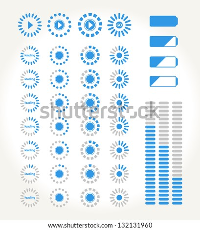 set of streaming icons for media - stock vector