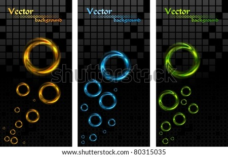 Set of stylish vertical banners. Eps 10 vector - stock vector