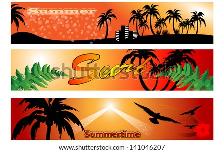 set of surf banner