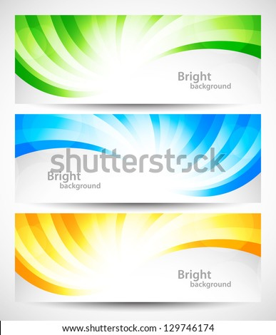 Set of swirl banners - stock vector