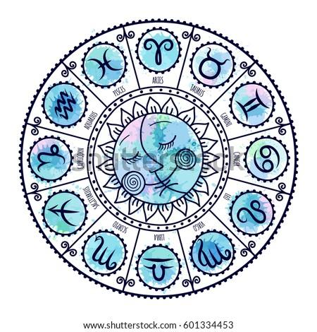 Set symbol zodiac sign zodiac icons stock vector 601334453 set of symbol zodiac sign zodiac icons freehand drawing stopboris Image collections