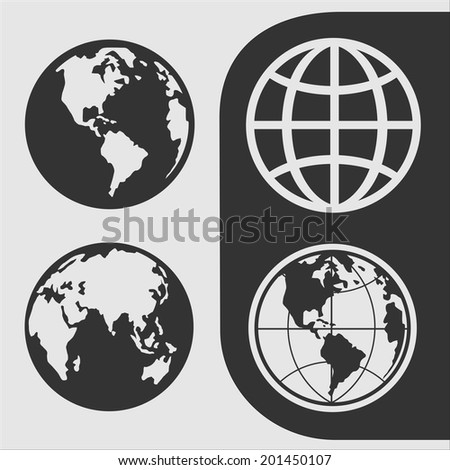 Set of  symbols globe for your design