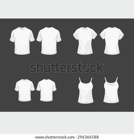 Set of t-shirt for all your family - stock vector