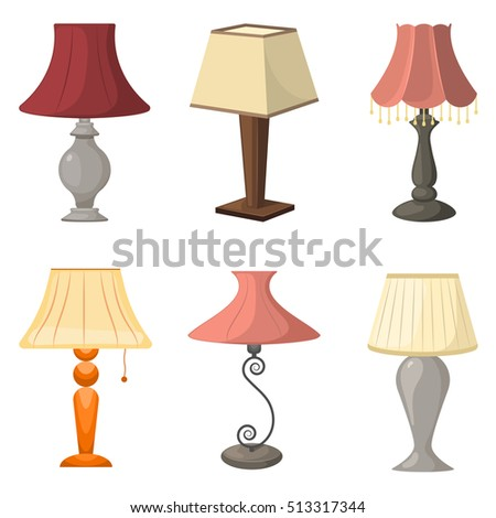 Set Of Table Lamps Vector Illustration Eps 10