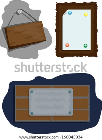 Set of tablets and color binders - stock vector
