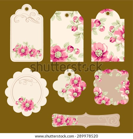 Set of tags - stock vector