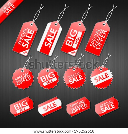 Set of tags for sale. - stock vector
