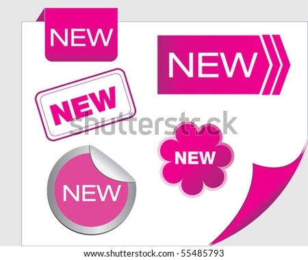 Set of tags new - stock vector