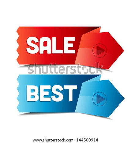 set of tags pro sale, best - stock vector