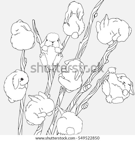 Imhope 39 s portfolio on shutterstock for Pussy coloring pages