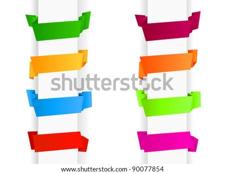 Set of template banners in origami style for web design. Jpeg version also available in gallery - stock vector