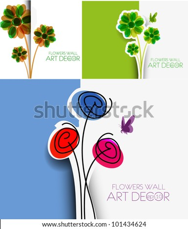 set of template design for greeting card. - stock vector