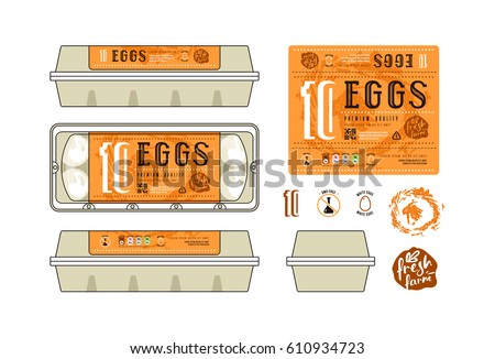 Egg carton stock images royalty free images vectors for Egg carton labels template