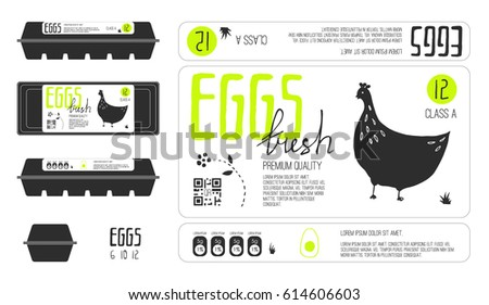Packaging label stock images royalty free images for Egg carton labels template