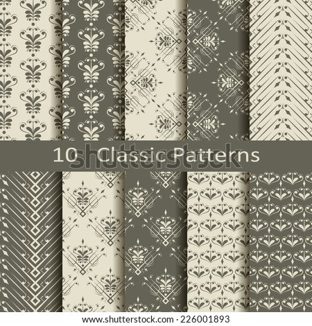set of ten classic patterns