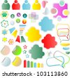 set of text box and vector design elements - stock vector