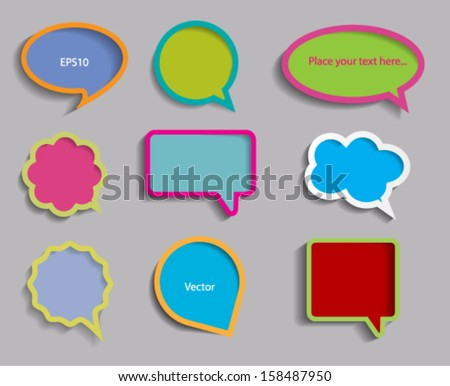 Set of text boxes. Vector eps 10. - stock vector