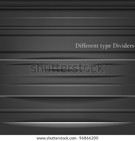 Set of the element dividers - stock vector
